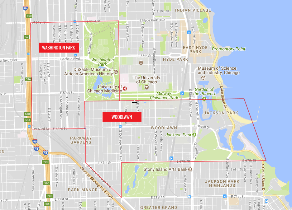 Chicago Skyway Map Chicago South Side Neighborhoods to Keep Your Eye On: Woodlawn and