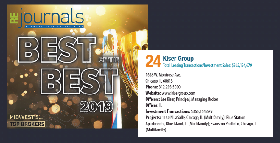 image of Kiser Group ranked at number 24 on RE Journals best of the best top brokers