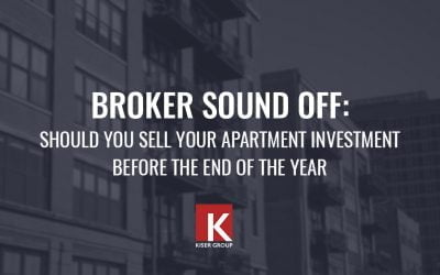 Broker Sound Off: Should you sell your apartment investment before the end of the year?