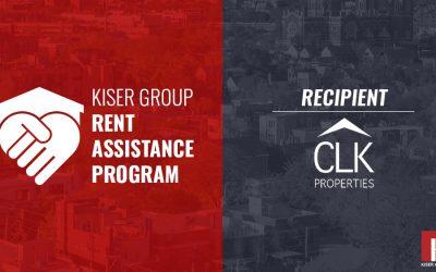 KISER GROUP'S RENT ASSISTANCE PROGRAM – CLK PROPERTIES